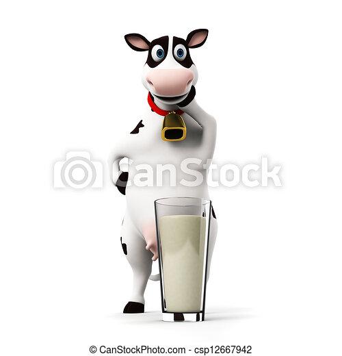 Un personaje de vaca - csp12667942