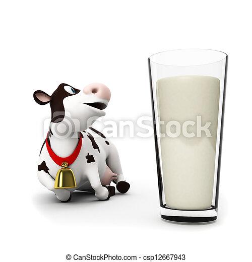 Un personaje de vaca - csp12667943