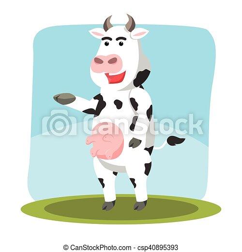 Personaje de vaca - csp40895393