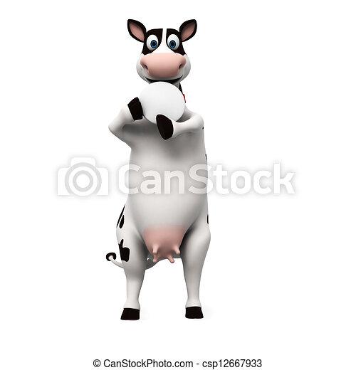 Un personaje de vaca - csp12667933
