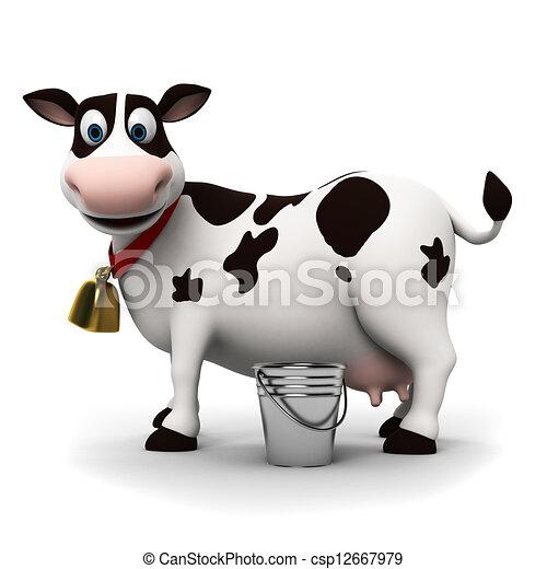 Un personaje de vaca - csp12667979