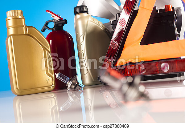 Car Accessories on vivid moto concept - csp27360409