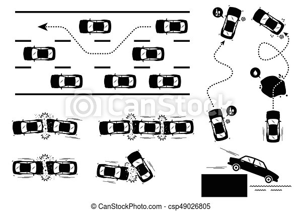 Verkehrsunfall also Bicycle Accident Cartoons also Lose Yourself In Music moreover Graphic Car Crash additionally Texas Traffic Accident Diagram Form. on collision car crash