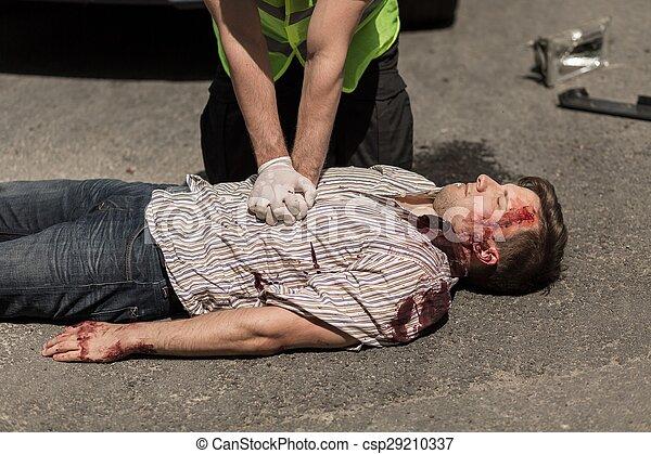 Car accident casualty - csp29210337