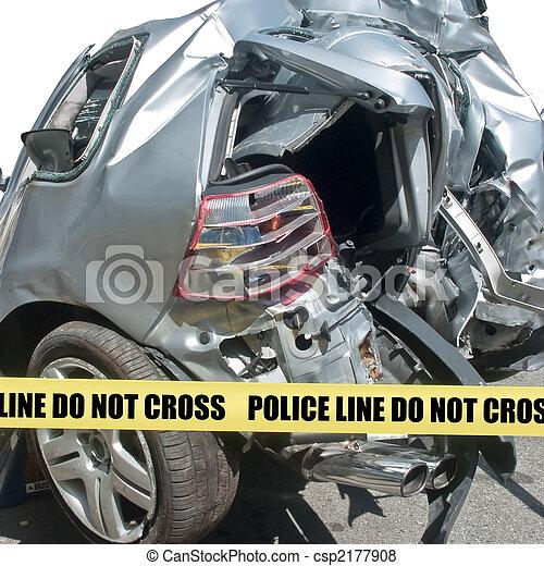 Car accident close-up - csp2177908
