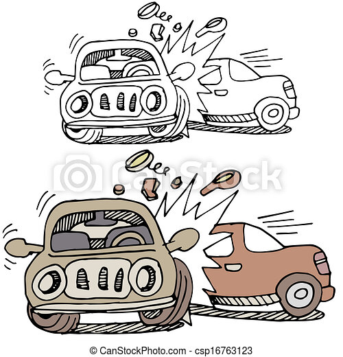 Car accident. An image of a car accident.
