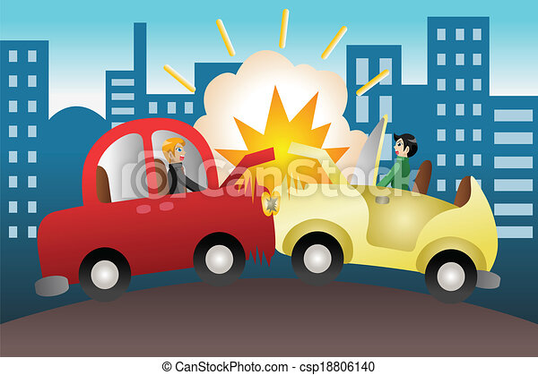 Car accident in the city - csp18806140