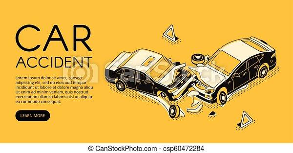 Car Repair Insurance >> Car Accident Insurance Vector Illustration