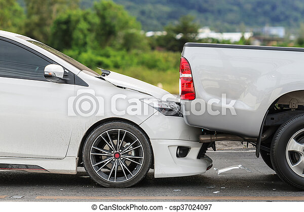 Car accident involving two cars on the street - csp37024097