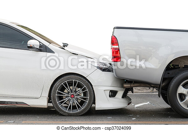 Car accident involving two cars on the street - csp37024099
