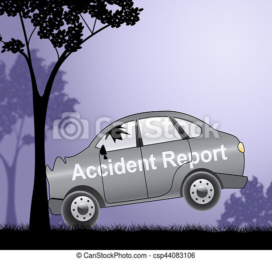 Car Accident Report Shows Collisions 3d Illustration
