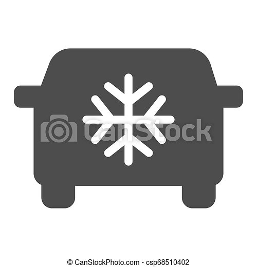 Car air conditioning solid icon. Car conditioner vector illustration isolated on white. Automobile airflow glyph style design, designed for web and app. Eps 10. - csp68510402
