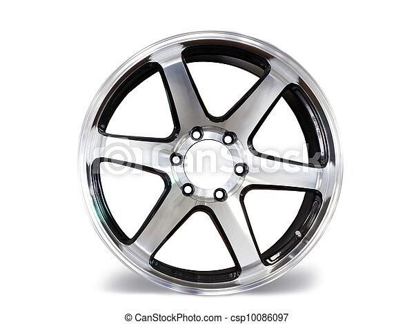 Car aluminum allow wheels on white background - csp10086097