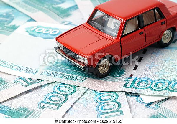 Car and money - csp9519165