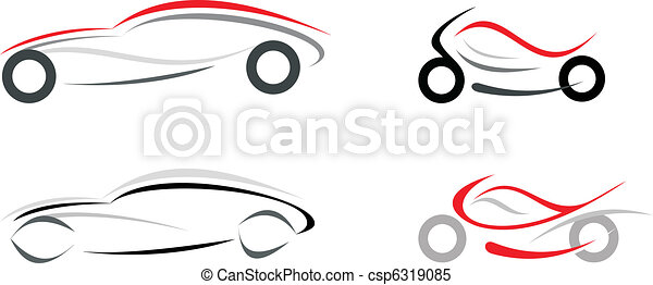 Car and motorcycle - csp6319085