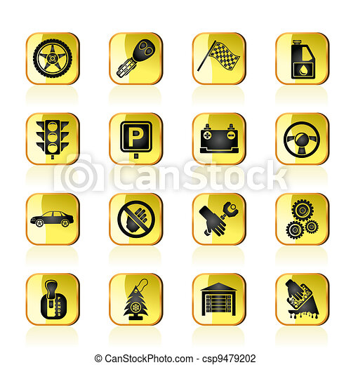 Car and transportation icons - csp9479202