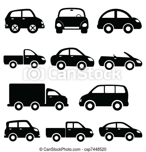 Car And Truck Icon Set Various Models Cars And Trucks Icon - Graphics for cars and trucks