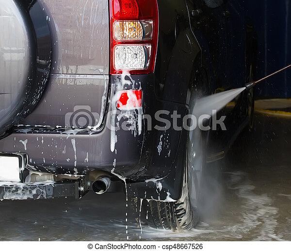 car at car wash - csp48667526