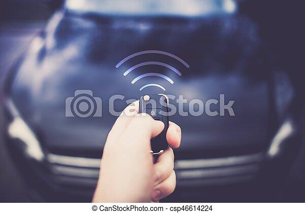 Car Auto Alarm Central Lock - csp46614224