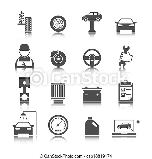 Car Auto Service Icons Set - csp18819174