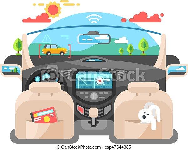 Car autopilot computer system - csp47544385