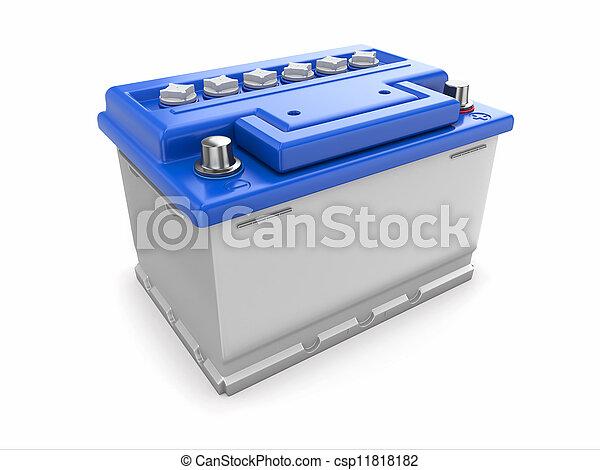 Car battery. 3d - csp11818182