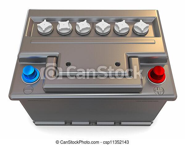 Car battery. 3d - csp11352143
