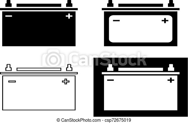 car battery icon collection vector art illustration https www canstockphoto com car battery icon collection 72675019 html