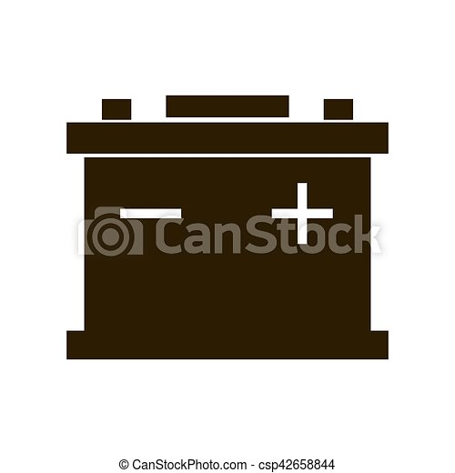 Car battery icon isolated on white background. accumulator battery ...
