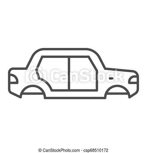 Car body thin line icon. Car body vector illustration isolated on white. Auto body outline style design, designed for web and app. Eps 10. - csp68510172