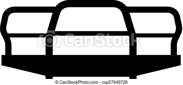 Car bumper icon - csp57649728