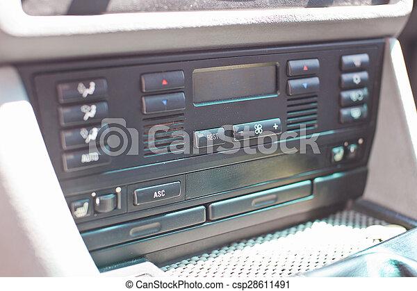 Car climate control close-up photo - csp28611491