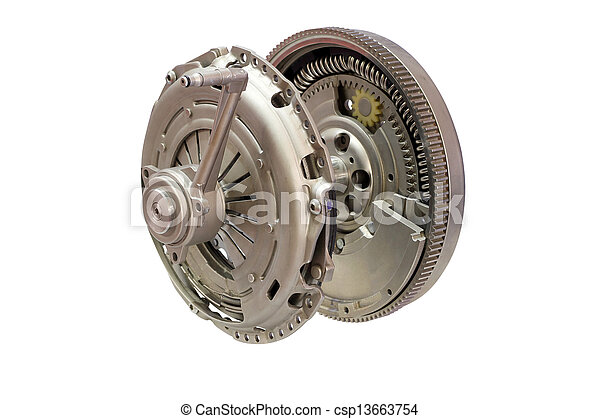 car clutch isolated on white - csp13663754