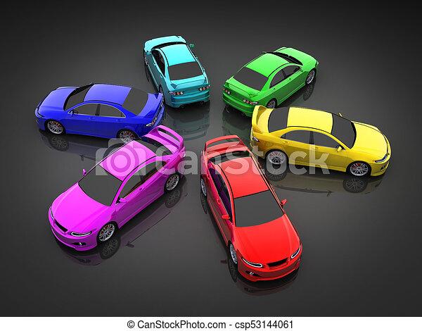 Car Colour Clip Art Csp53144061