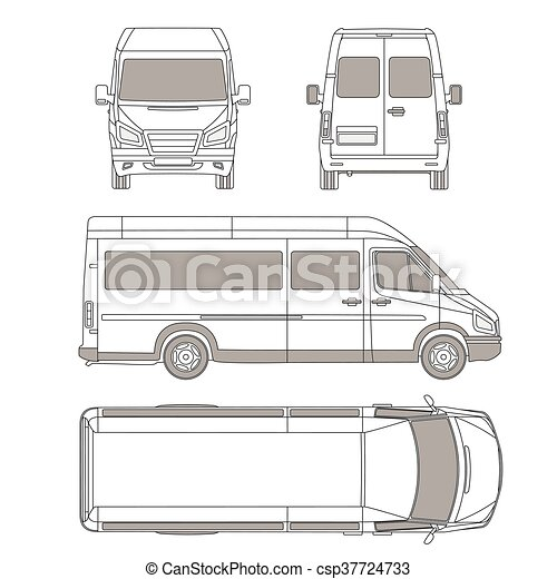 Car commercial vehicle delivery van blueprint drawing car commercial vehicle delivery van blueprint drawing proection all view malvernweather Image collections