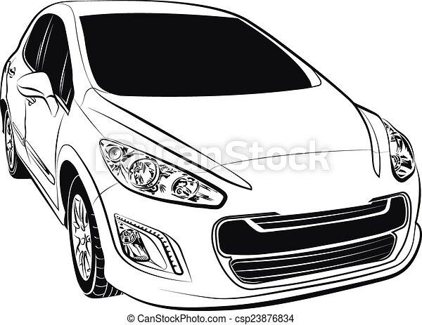 car compact european - csp23876834