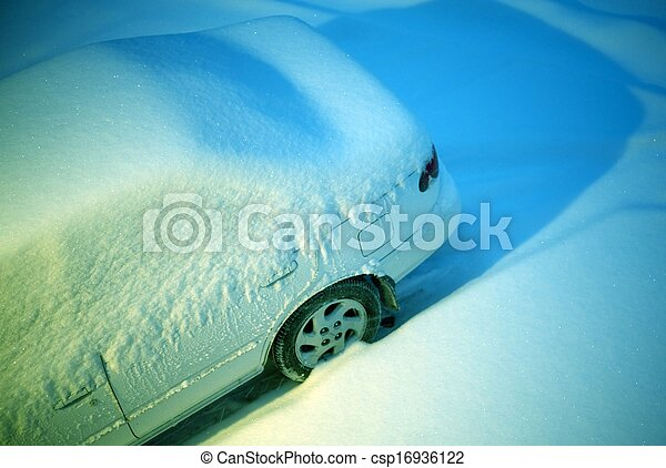 Car Covered by Snow - csp16936122