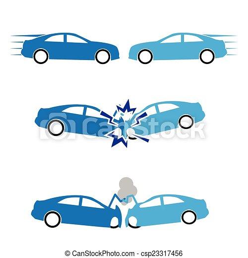car crash and accidents - csp23317456
