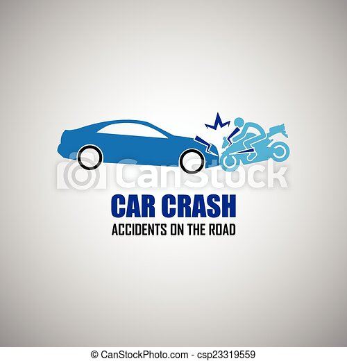 car crash and accidents icons - csp23319559