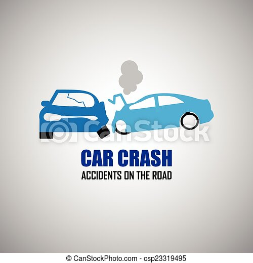 car crash and accidents icons - csp23319495