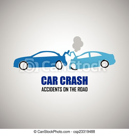 car crash and accidents icons - csp23319488