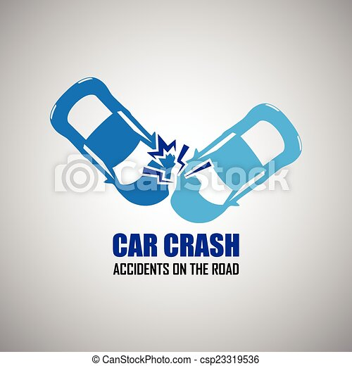 car crash and accidents icons - csp23319536
