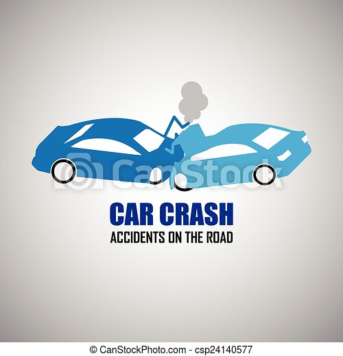 car crash and accidents icons - csp24140577