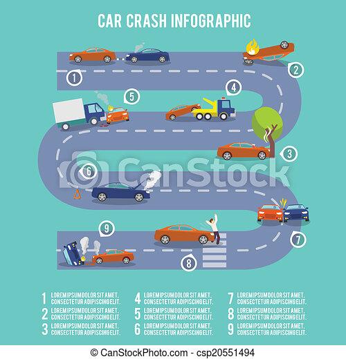 Car crash infographics - csp20551494