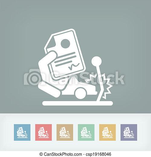 Car crash insurance - csp19168046