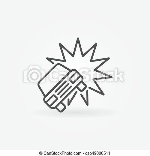Car crash or accident icon - vector minimal concept symbol or design ...
