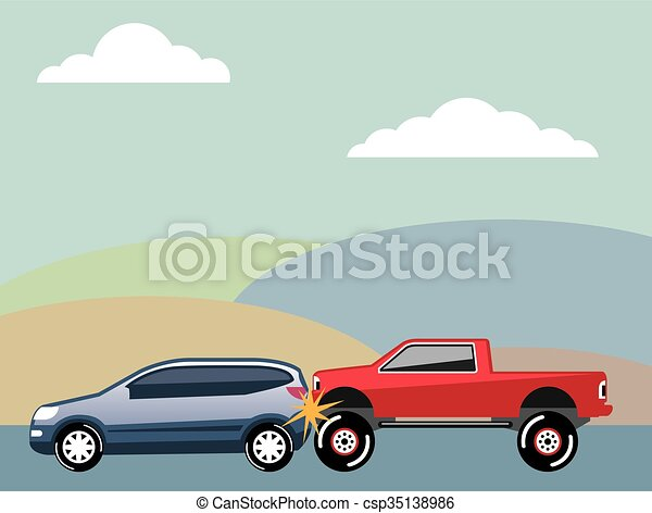 Car crash rear ended vehicle vector vector - Search Clip Art ...