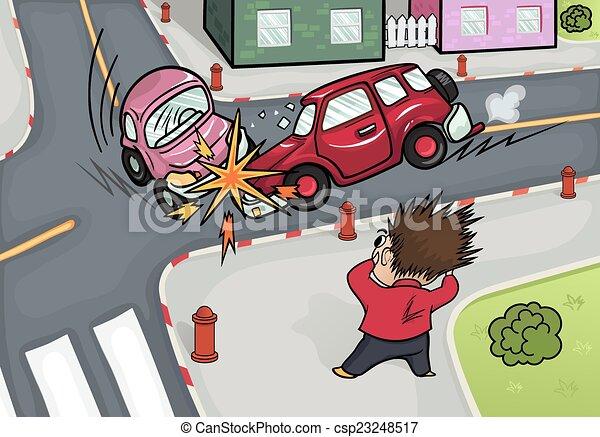 Car crash. - csp23248517