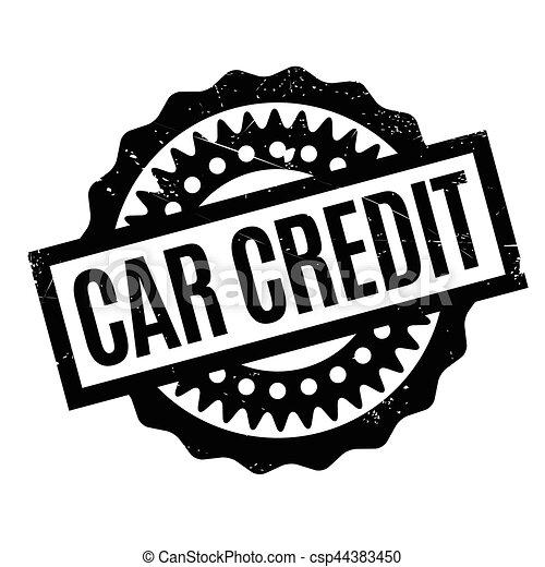 Car Credit rubber stamp - csp44383450