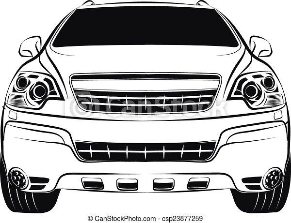 car crossover - csp23877259
